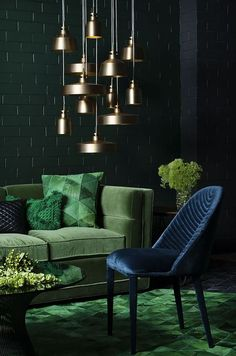 Simple and Crazy Ideas Can Change Your Life: Warm Minimalist Decor Interior Design vintage minimalist bedroom lamps.Minimalist Decor Apartments Beds minimalist home tips apartment therapy. Dark Living Rooms, Living Room Green, Green Rooms, My Living Room, Living Room Decor, Dark Rooms, Dining Room, Lights For Living Room, Living Room Colors