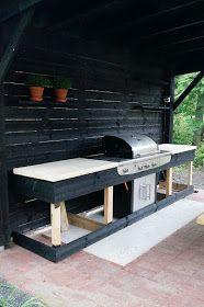 Garden Cottage, Home And Garden, Outdoor Living, Outdoor Decor, Outdoor Ideas, Bbq Area, Industrial Interiors, Backyard Makeover, Summer Kitchen