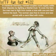Medieval Germany Husband and Wife Fight WTF Facts : funny, interesting & weird facts Wtf Fun Facts, True Facts, Funny Facts, Funny Memes, Random Facts, Hilarious, Crazy Facts, Happy Facts, Trivia Facts
