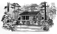 Eplans Cottage House Plan - Delightfully Simple - 480 Square Feet and 2 Bedrooms(s) from Eplans - House Plan Code HWEPL00355