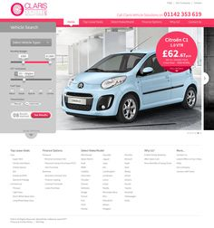 Claris Vehicle Solutions Website Design