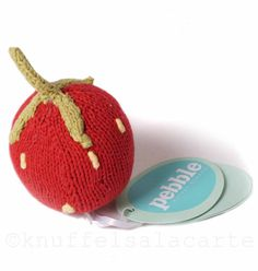 Baby Toy Fairtrade strawberry rattle from Pebble Child. Softies, Fair Trade, Baby Toys, Cuddling, Little Ones, Cute Babies, Strawberry, Plush, Crafty