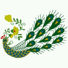 Hungarian folk art peacock