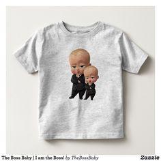 The Boss Baby I am the Boss! Toddler T-shirt, Kids Unisex, Size: Toddler Unisex, Heather Grey Baby & Toddler Clothing, Toddler Outfits, Boy Toddler, Toddler Fashion, Kids Fashion, Baby Movie, Manga Raglan, Be The Boss, Boss Baby