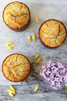 Gluten-Free Vegan Lemon Poppy Seed Muffins