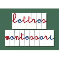 Lettres mobiles pour Montessori : jeu de 270 lettres imprimées Mobile Montessori, Montessori Homeschool, Maria Montessori, Montessori Materials, Baby Education, French Lessons, Mobiles, Phonics, Kids Learning