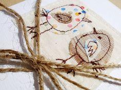 Bird card - by lotus blossom on Folksy