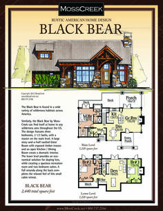 A Ready to Purchase 2,440 SF Home Plan from MossCreek.