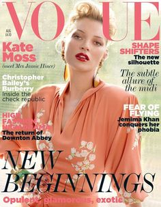 Kate Moss covers Vogue UK August 2011