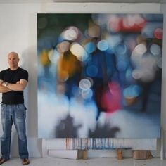 thumbnail for amidst - 2m x 2m, oil on linen