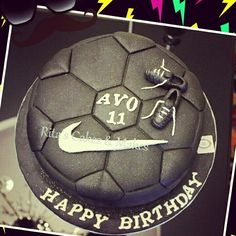 Cake , Soccer cake ,Nike shoes birthday cake