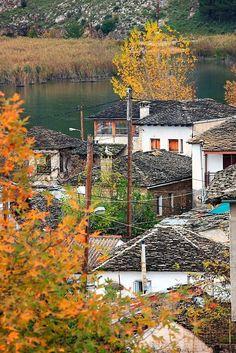 'The islet of Pamvotis lake' by Hercules Milas Autumnal, Hercules, Long Hoodie, Lakes, Decorative Throw Pillows, Travel Mug, Chiffon Tops, Travel Destinations, Framed Prints