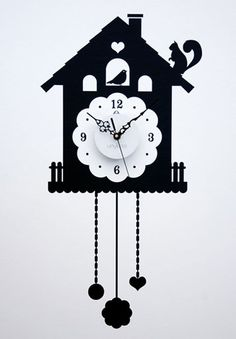 Orologio wall sticker a cucu