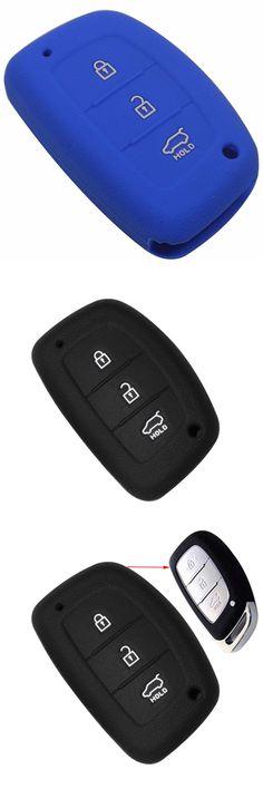 [Visit to Buy] 3 Buttons Silicone Car Key Cover Case For Hyundai IX25 I30 HB20 i30 ix35 Mistra Verna Solaris Sonata Santafe IX45 Smart Fob Case #Advertisement