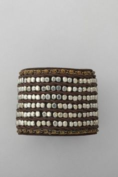 BEAD LEATHER CUFF  £22 Nice and Pretty +dreadstop @DreadStop