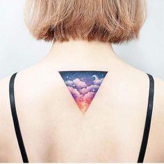 Colorful and unique tattoo idea for women