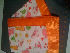 Fun Baby Blanket I made...it's double thick...back fabric is orange flannel