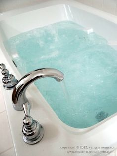 Detox Bath - Add 2 cups Epsom Salt to a very hot bath (as hot as you can stand it). Add 1 cup Baking Soda to unfiltered bathwater. Soak for 20 min. And shower in cool water. No perfumed lotions or soap after detoxing. No eating before or after detox bath....just drink lots of water before and after. --I have done this it works! Years of toxins are released through hands feet!