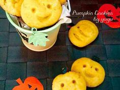 ハロウィンにも☆簡単かぼちゃクッキー。の画像 Pumpkin Cookies, Pear, Pineapple, Pudding, Canning, Fruit, Desserts, Recipes, Food