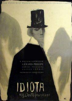 """Anna Huskowska - Poster : """"IDIOTA"""", 1958. Film : """"L'Idiot"""", France, (Sacha Gordine) 1946."""