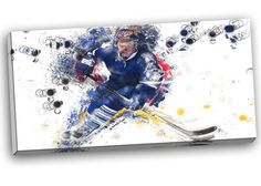 Hockey Penalty Shot Graphic Art on Gallery Wrapped Canvas