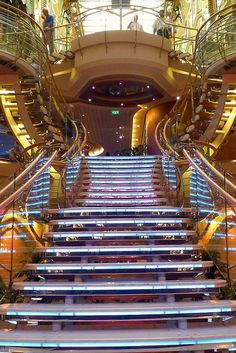 Make a grand entrance and amble down the grand staircase onboard Independence of the Seas.