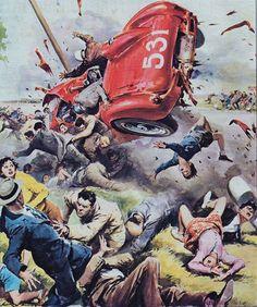 大惨事。事故現場を描いたイタリアのイラストレーターWalter Molino   ARTIST DATABASE