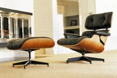 Lounge Chair By Charles Ray Eames.Ebony Eames Lounge Chair Ottoman Hivemodern Com. White Ash Eames Lounge Chair Ottoman Hivemodern Com. Eames Molded Plywood Lounge Chair With Wood Base Herman . Lounge Chair, Lounge Seating, Chair And Ottoman, Comfy Chair, Rocking Chairs, Upholstered Chairs, Charles Eames, Chair Design, Furniture Design