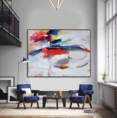 Peinture contemporaine Extra Large fait à la par CelineZiangArt