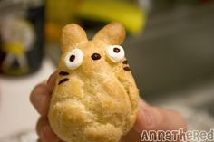 My Neighbor Totoro was a very sweet  animated movie (watch it if you can!) and Anna the Red has created her very own Totoro cream puffs for you to make (with great step by step instructions) -  kawaii!