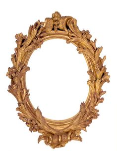 Branch and flower garland: French oval frame