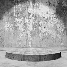 empty display podium in grunge concrete room Rock Background, Fashion Background, Textured Background, Pedestal, Interior Rendering, 3d Rendering, Rock Tile, Brick Room, Design Simples