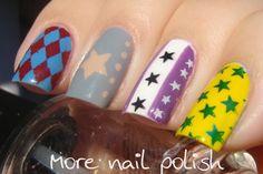 More Nail Polish: Melbourne Cup nail art - Jockey Silks Skittles
