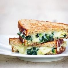OMFG!! this looks amazing...Spinach Artichoke Grilled Cheese!