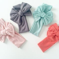 Looking for fashionable hair accessories for your little one? Weve got you covered! We offer these beautiful baby knit headbands in four trendy