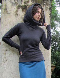Gaia Conceptions - Chunky Cowl Fleece Shirt, $95.00 Cotton/Hemp Fleece