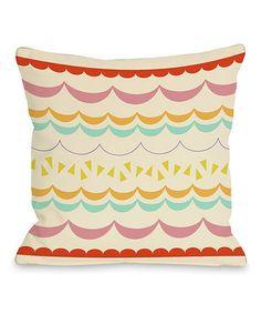 Look what I found on #zulily! Cream Lilly Scallops Pillow #zulilyfinds