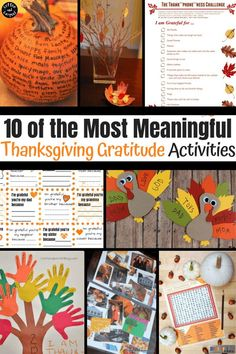 The best and most meaningful Thanksgiving Gratitude Activities to help families focus on what they're really thankful for this November. #thanksgivingactivities #thanksgivingactivities #thanksgivinggratitude #gratitudeactivities #thankfulactivities #bestofthanksgiving #kidsthanksgiving #coffeeandcarpool #teachingkidstobegrateful #kidstobegrateful Thanksgiving Traditions, Thanksgiving Activities, Thanksgiving Crafts, Family Traditions, Fall Crafts, Holiday Activities, Family Activities, Holiday Crafts, Autumn Activities For Kids