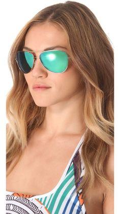 76d8b27d2ad2b Oliver Peoples Eyewear Mirrored Pryce Sunglasses Espelhos Verdes, Óculos  Cor De Rosa, Óculos De