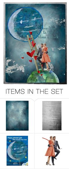 """Love You to the Moon"" by kbarkstyle ❤ liked on Polyvore featuring art"