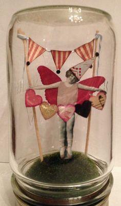 Fairy Mason Jar Altered Art