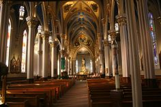 Basilica of the Sacred Heart at University of Notre Dame, Indiana