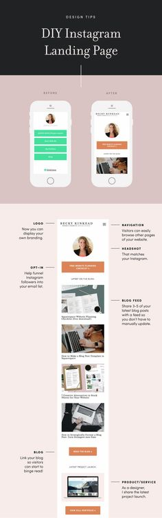 Easily upgrade your Instagram marketing by designing your own landing page, #instagram #marketing