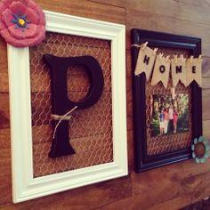 wire frame, brock creat, chicken wire, frame monogram