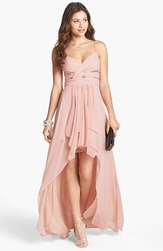 Hailey Logan Pleated Chiffon High/Low Gown (Juniors) available at #Nordstromhttp://shop.nordstrom.com/s/hailey-logan-pleated-chiffon-high-low-gown-juniors/3680206?origin=keywordsearch