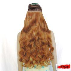 hair extensions false synthetic japanese fiber aplique de cabelo curl rallonge de cheveux 5 clip in 28inch 120g ginger color 27s