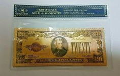 1928 20$ Twenty Dollar Bill Reserve Note Gold Clause Certificate Gold Foil >C999 Twenty Dollar Bill, Federal Reserve Note, Silver Certificate, Legal Tender, Bratislava, Note Paper, Gold Foil, Pure Products, Personalized Items
