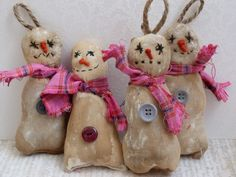 Primitive+snowmen+scented+Christmas+by+cornishcontemporary+on+Etsy,+£4.40