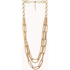 Forever 21 Goddess Layered Chain Necklace ($11) ❤ liked on Polyvore featuring jewelry, necklaces, accessories, long layered necklaces, long multi chain necklace, multi-chain necklace, layered necklace and long chain necklace
