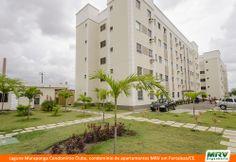 Paisagismo do Lagune Maraponga. Condomínio fechado de apartamentos localizado em Fortaleza / CE